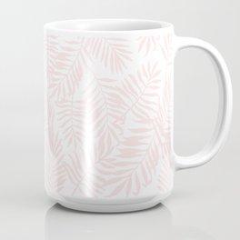 Tropical Palm Leaves - Pink Coffee Mug