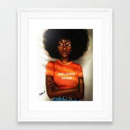 Melanin Mami Framed Art Print