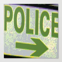 police Canvas Prints featuring police by XiXi