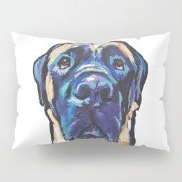 Fun ENGLISH MASTIFF Dog bright colorful Pop Art Painting by LEA Pillow Sham