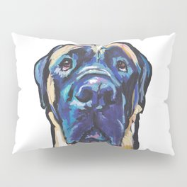 Fun ENGLISH MASTIFF Dog bright colorful Pop Art Painting by LEA Pillow Sham