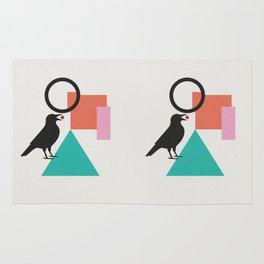constructivist bird Rug