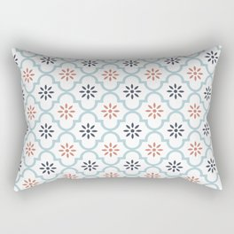 Red & Blue Mute Lattice Rectangular Pillow