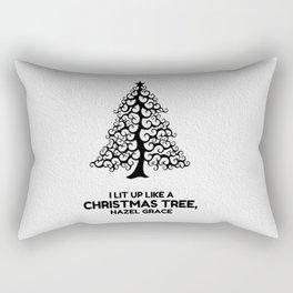 I lit up like a christmas tree, hazel grace TFIOS JOHN GREEN Rectangular Pillow