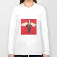 medical Long Sleeve T-shirts featuring Medical Corps Snake by ArtSchool