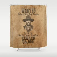 """mad men Shower Curtains featuring """"Mad Dog"""" Tannen by Kramcox"""