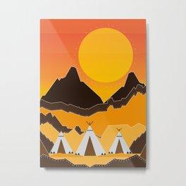 teepees mountains Metal Print
