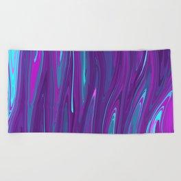 Pink, Purple, and Blue Waves 2 Beach Towel