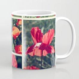 Poppies Collage Coffee Mug