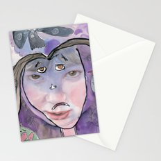 I feel scared Stationery Cards