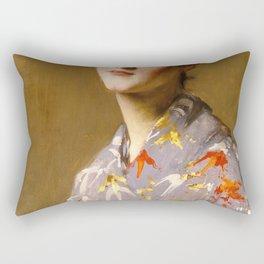 William Merritt Chase - Girl In A Japanese Costume - Digital Remastered Edition Rectangular Pillow