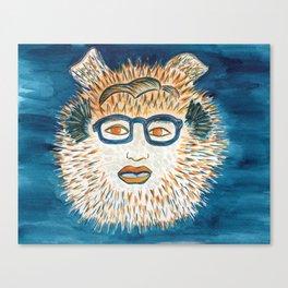 Spirit Animal Pufferfish Canvas Print