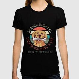 Silence is Golden Labrador Dog Breed Labbi Dog Owner Gift T-shirt