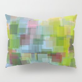 Abstract Grassy Field Pillow Sham