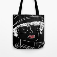 hat Tote Bags featuring Hat by transFIGure