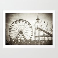 carnival Art Prints featuring Carnival by Olivia Joy StClaire