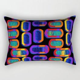 90's Tic Tac Pattern Rectangular Pillow