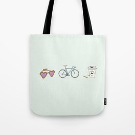 Lunettes Vélo Café  Tote Bag