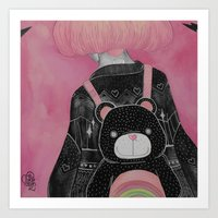 loll3 Art Prints featuring T e d d y  by lOll3