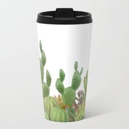 Milagritos Cacti on white background. Travel Mug