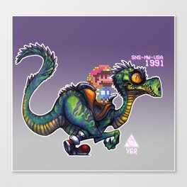 Jurassic Yoshi Canvas Print