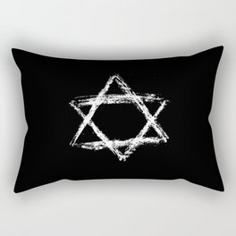 Star of David 22- Jerusalem -יְרוּשָׁלַיִם,israel,hebrew,judaism,jew,david,magen david Rectangular Pillow