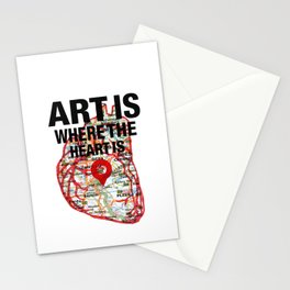 Art Is Where The Heart Is Stationery Cards