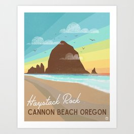 Haystack Rock Oregon Art Print