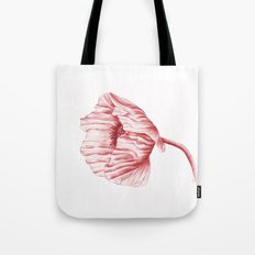 the neighbour's poppy - red Tote Bag