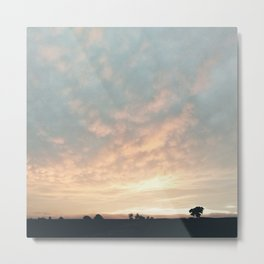 Sunset in Derbyshire Metal Print