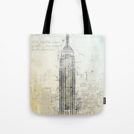 Empire State Building, New York USA Tote Bag