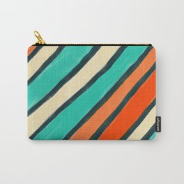 Coloured Stripes Carry-All Pouch