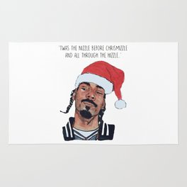 Twas the nizzle before chrismizzle and all through the hizzle Rug