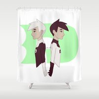 danny ivan Shower Curtains featuring Danny by Dante Blue