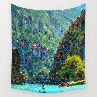 peru Wall Tapestries featuring Ceti Peru by Bunny Clarke
