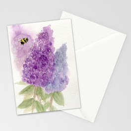Watercolor Lilacs Spring Garden Flowers Stationery Cards