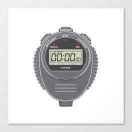 Retro Digital Stopwatch Canvas Print