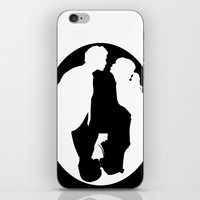 pushing daisies iPhone & iPod Skins featuring Pushing Daisies silhouette kiss by Reggie Vass