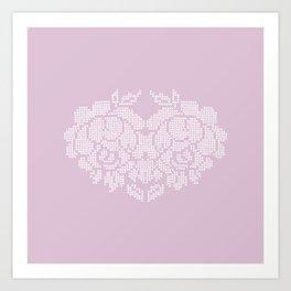 roses heart Art Print