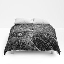 Hamburg Black Map Comforters