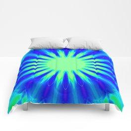 Aqua Starburst Comforters