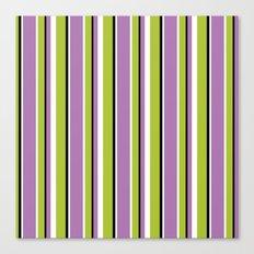 Fun Stripes purple green Canvas Print