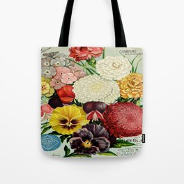 A. W. Livingston's Sons vintage flowers Tote Bag