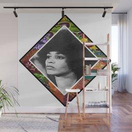 Ms. Davis Afro Diamond Wall Mural