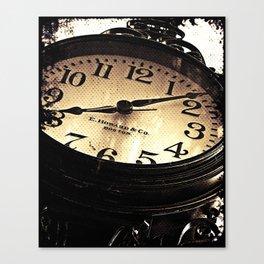 Bar Harbor Street Clock Canvas Print