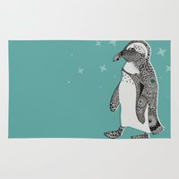 penguin Area & Throw Rugs featuring Penguin by Rachel Russell