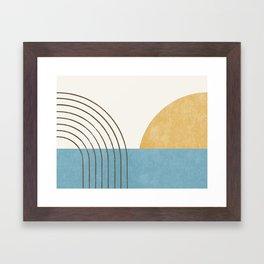Sunny Ocean Horizon Framed Art Print