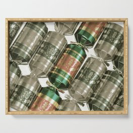 Decorative christmas crackers Serving Tray