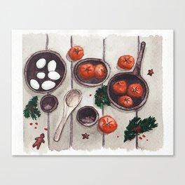 Christmas Holiday Table Canvas Print