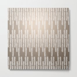 Eye of the Magpie tribal style pattern - champagne Metal Print